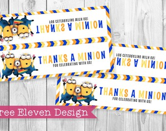 Minions PRINTABLE Treat Bag Topper