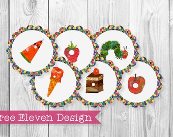 Hungry Caterpillar PRINTABLE Cupcake Toppers