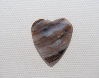Zebra Agate - Rock Guitar Pick - Heart
