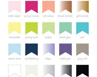 Color Palette for custom orders