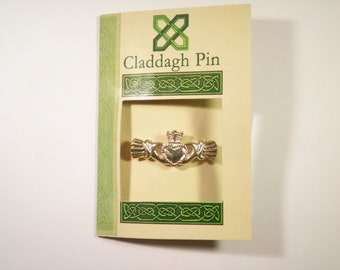 1 Silver Plated Claddagh Pin