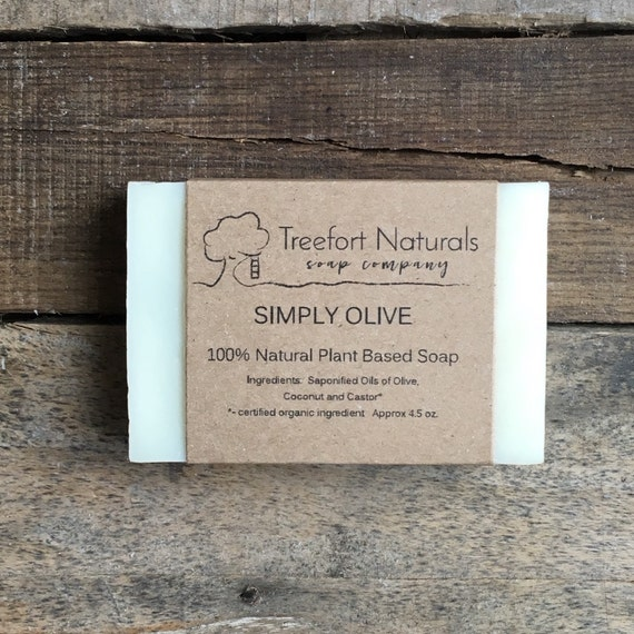 Simply Olive Oil soap - Handmade Cold Process, All Natural, unscented, baby soap