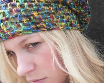 Hand Crocheted Summer Slouch, Loose, Airy, Perfect Summer Hat, Adult Size, M/L Slouch amount