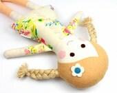 fabric rag doll | camille doll for girl | girl rag doll | handmade doll |  soft toy  | cloth doll