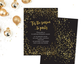 Printable Christmas Party Invitation PDF - 'Tis the Season