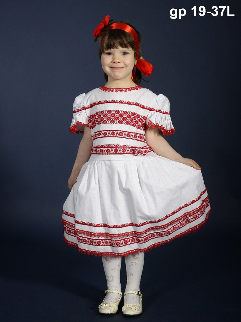 Ukrainian Embroidery Dress For Girls Vyshyvanka Dress Linen