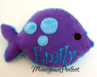 Personalized Plush Fish Pillow, Soft Toy