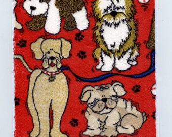Minkee Fabric Dog Card