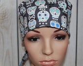 Surgical Scrub Hat ,Nurses Surgical Scrub Hat,  Chemo Cap, Women's Surgical Scrub Hat, New Charcoal