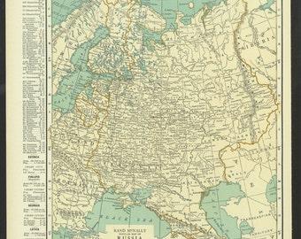 Azerbaijan Map Etsy - Georgia map 1921