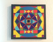 GEOMETRY II original one of a kind modern /contemporary symmetrical and geometric acrylic painting art