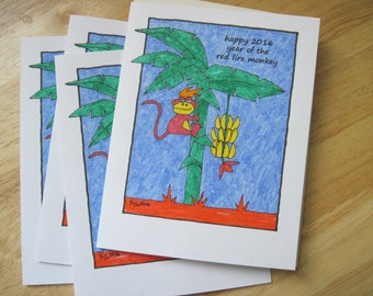 Year Of The Monkey -- Lunar New Year Card, Chinese New Year (#LNY004)