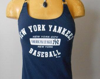 New York Yankees halter top DIY MLB Baseball Reconstructed
