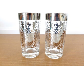 Two Kimiko silver highball glasses in excellent condition