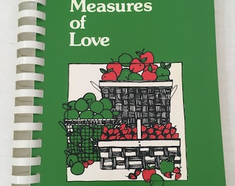 Measures of Love Cookbook By Midwest 1970's Cooking