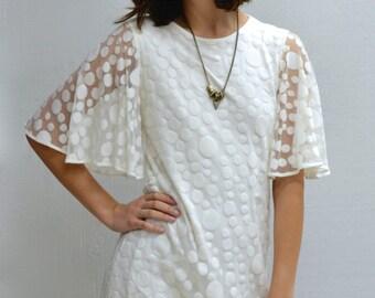 SALE Polka Dress in Ivory