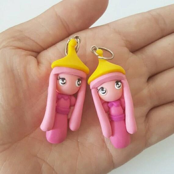 Princess Bubblegum Polymer Clay Charm, Bubblegum Polymer Clay Pendant, Adventure Time, polymer clay, clay pendant, Kawaii, Chibi, Clay Charm