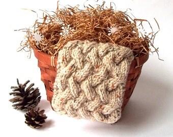 SALE - 50%OFF. Knit Headband. Knit Head Wrap. Knitted Head Warmer. Winter Accessory. Beige Gray Headband.