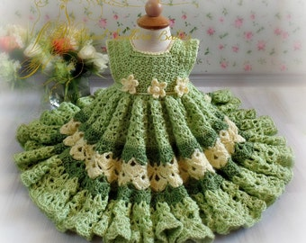 Baby and Toddler Girl's Frilly Dress in Bright Spring Colors- Newborn to 2 Years - Easter - Spring - Summer