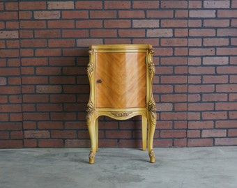 Nightstand / French Provincial Nightstand / French Bedside Chest / Vintage Nightstand