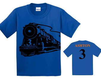 Train Birthday, Train Birthday Shirt, Train Party, Train Shirt, First Birthday Boy, Personalized Shirt