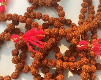 "Rudraksha  Beads 36"" Strand - Shiva Tears - 108 Beads Mala"