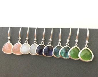 Silver Earrings, Statement Earrings, Dangle Earrings, Silver Bridesmaid Earrings Bridesmaid gifts Mother's Day Gifts Best Friend, muse411