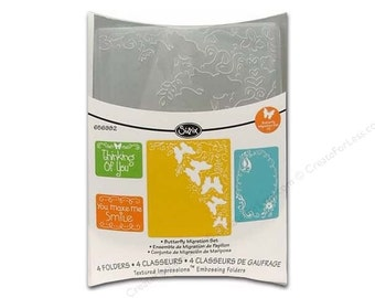 BUTTERFLY MIGRATION SIZZIX - Embossing Folder Set - NeW  !!  - SIZZiX Textured Impressions 4 Pc