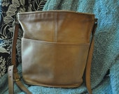 Coach British Tan Classic Bucket Purse Made in the United States