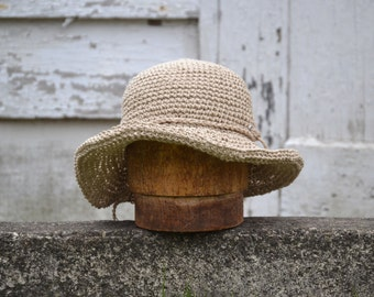 Floppy Brim Hemp Hat / Straw Hat / Sun Hat / Beach Hat / Hemp Hat / Floppy Hat / Garden Hat / Farmers Market / Mothers Day / Organic product
