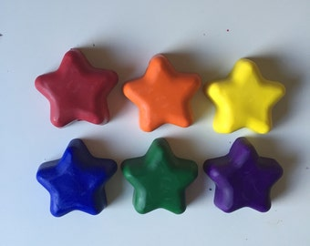 Oversized Star Crayons- Set of 6