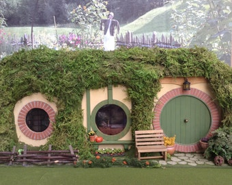 """dollhouse miniature Bilbo Baggins Bag End Hobbit Hole  1"""" scale hobbit residence building structure dollhouse The Hobbit Lord of the Rings"""