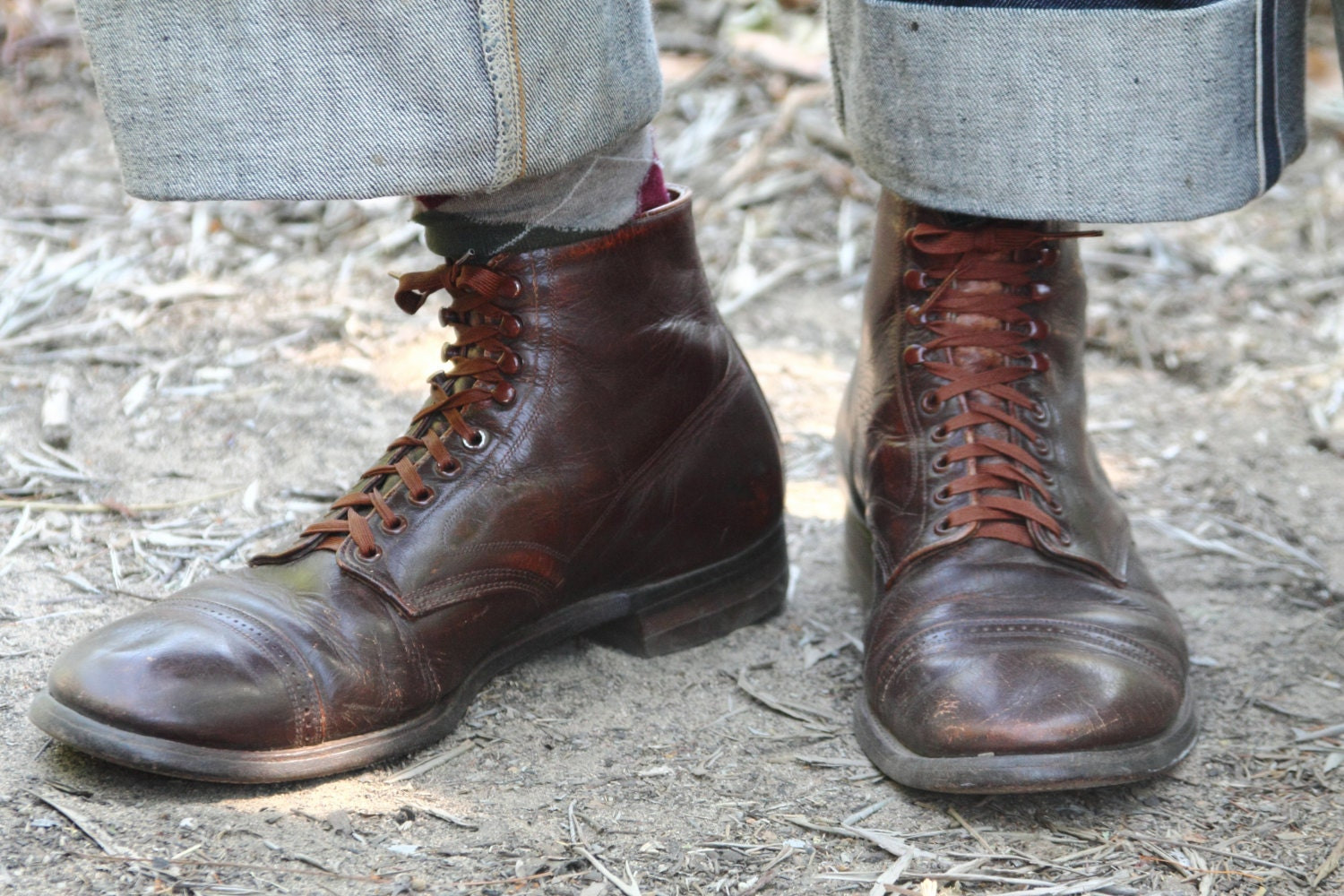 Oxblood Shoes With Black Laces