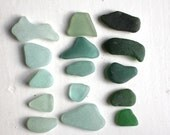 RESERVED jewelry quality sea glass jq seaglass beach finds vintage Scottish glass beads supply art&craft supply (305)
