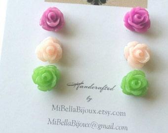 Flower Earrings for Little Girl, Gift for Little Girl, Earring Set for Girl