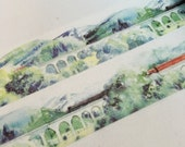1 Roll of Limited Edition  Washi  Tape- Train Ride over Scottish Highland