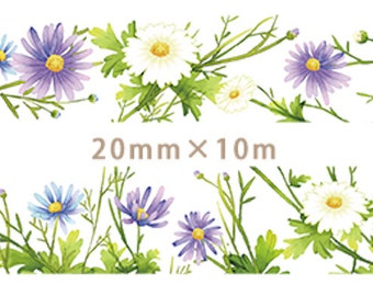 1 Roll of Limited Edition Washi Tape: Daisy