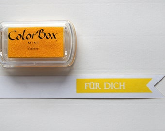 ♥ Yellow - Canary pigment color stamp pads