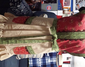 Cute - Fun - Muslin & Cotton Full Size Apron - Perfect for Fall - Thanksgiving - Christmas!  Size Medium - XX-Large - Great Hostess Gift
