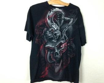 skull n dragon shirt size L