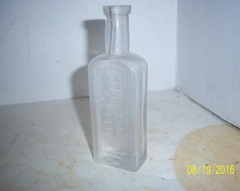 1890's Berry's Canker Cure Cutler Bros Boston, Mass  5 1/4 inch CLEAR medicine bottle