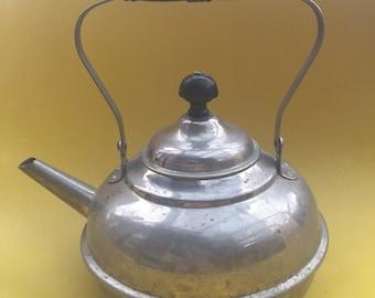 Small Steel Teapot & Kettle