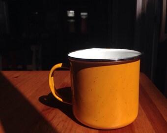 Mustard Yellow Camping Thermal Mug