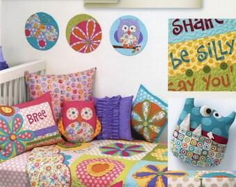 Art to Heart Curiosities & Mischief by Nancy Halvorsen Children's Quilts, Pillows and More Pattern Book