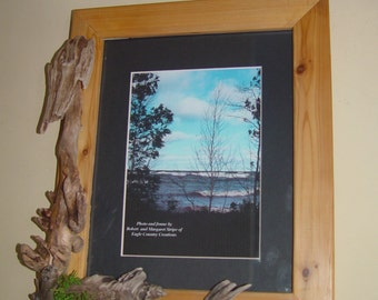 """8"""" X 10""""  Driftwood Frame unique enough for your favorite photo!"""