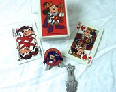 Collectible DISNEY Mickey Mouse Goofy Vintage Playing Cards Disneyland Pin Pendant King Retro Kitsch Lot