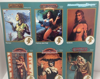 Vintage uncut promo tradings cards 1995 Dungeons and Dragons World of Greyhawk