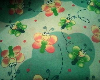 "Cute Butterflies Fabric 44"" wide"