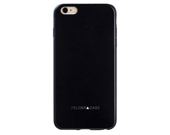 Matte Black Essential Case // Matte Black phone case for iPhone 6/6s Plus // (6PE-MB)