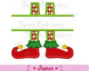 Instant Download Christmas Elf Boots Applique Machine Embroidery Design NO:1888